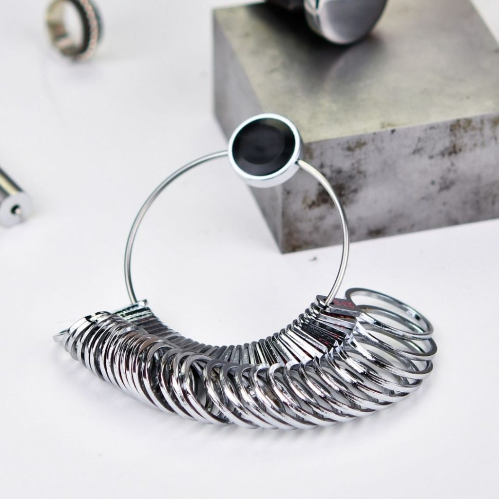 Ring sizing set for jewellery making