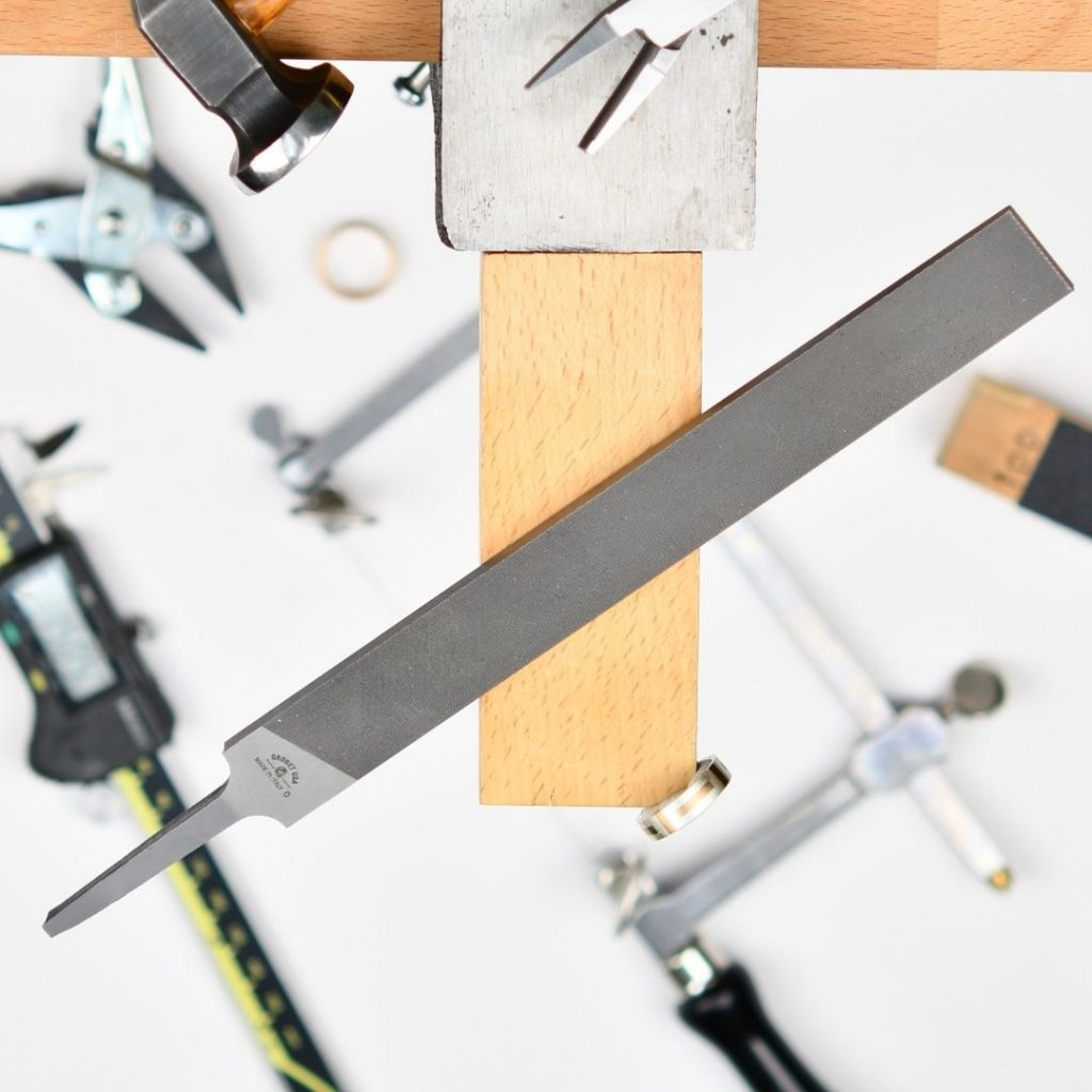 Flat hand file for jewellery making